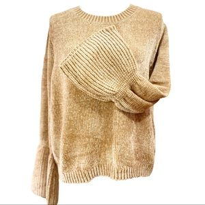 NEW Chenille Sweater Super Soft Bell Cuffs Med.